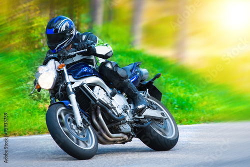 Dynamic motorbike racing Canvas