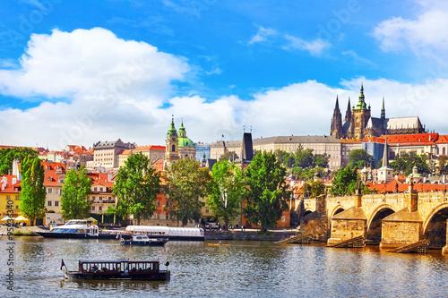 View of Prague Castle from Charles Bridge.Czech Republic. Poster