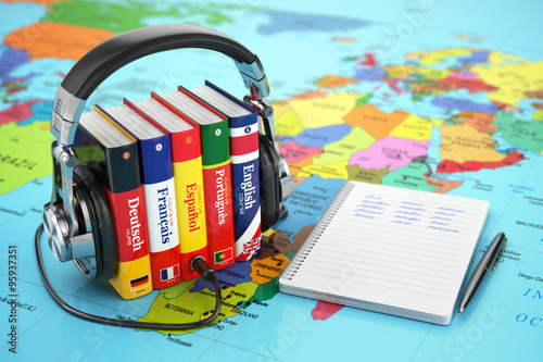 Learning languages online. ...