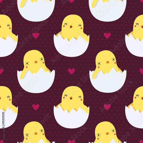 slodkie-kurczaki-w-jajach-wzor-z-serca