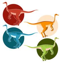 Set Of Ostrich Dinosaurs