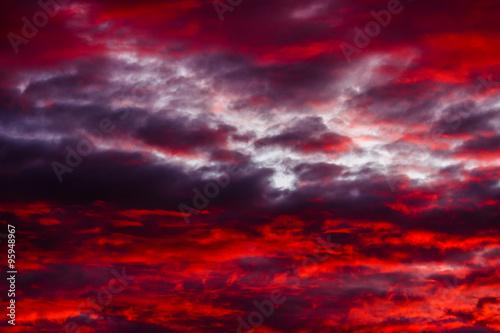 Foto Кровавый закат