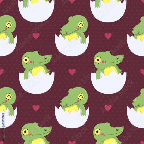 sliczny-dziecko-krokodyl-w-jajko-bezszwowym