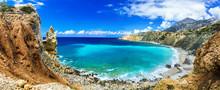 Wild Beautiful Beaches Of Greece - Akrotiri Bay In Karpathos Island