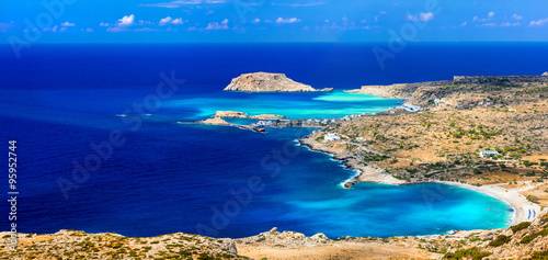 beautiful beaches of Greek islands - Lefkos in Karpathos (Dodekanes) #95952744