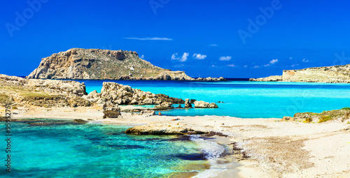 In de dag Beige most beautiful beaches of Greece - Lefkos, in Karpathos island