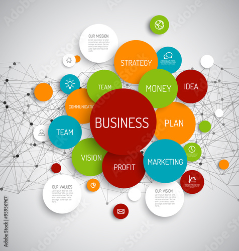 Business infographic diagram Plakat