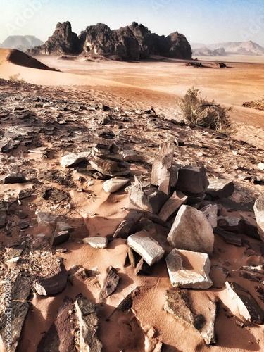 Deserto Wadi Rum in Giordania Canvas Print