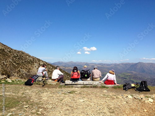 Deurstickers Liguria Pian del Curlo, Passo Gava