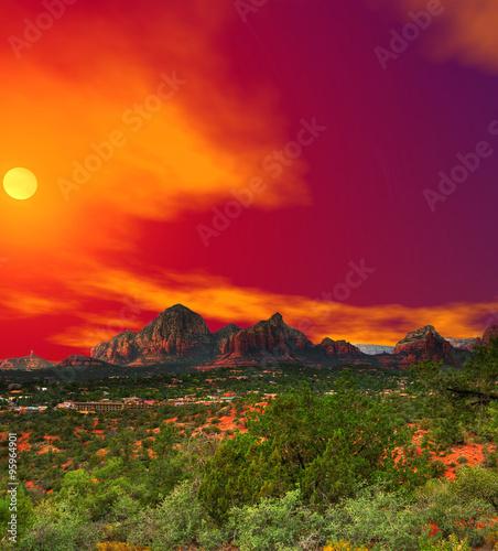 Sunset Sedona Arizona