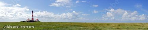 Foto op Aluminium Vuurtoren Leuchtturm Panorama Bild Querformat