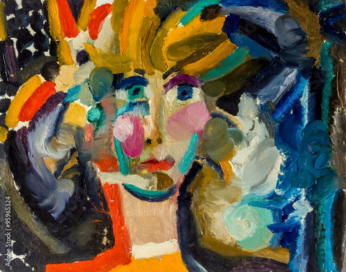 Beautiful Original Oil Painting of portrait of a woman On Canvas