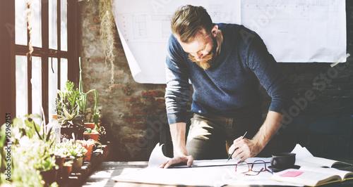 Foto  Businessman Determine Ideas Working Plan Concept