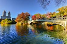 Bow Bridge, Central Park In Au...