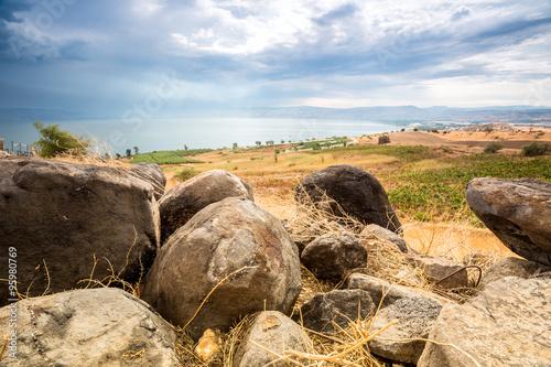 Galilee panorama taken from Mount of Beatitudes Wallpaper Mural