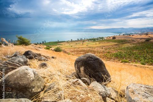 Fotografie, Obraz  Galilee panorama taken from Mount of Beatitudes