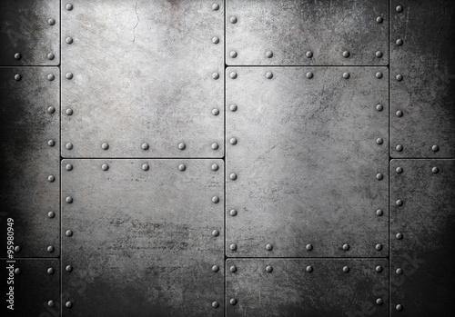 old steel metallic background Canvas Print