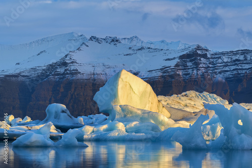 Poster Glaciers Glacier Lagoon in east Iceland, nature