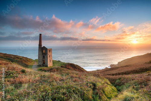Sunset at Rinsey Head Canvas Print