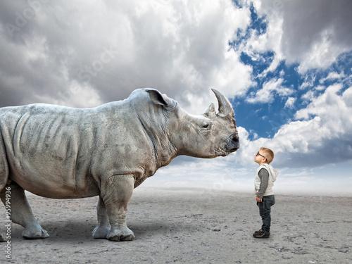 Poster Rhino kid vs rhino