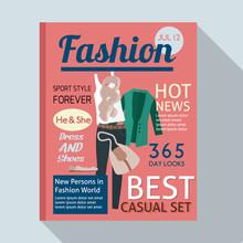 Fashion Magazine With Casual C...