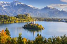 Panoramic View Of Lake Bled Fr...