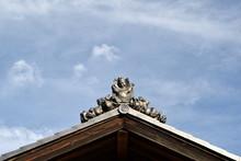 日本家屋の飾瓦 鍾馗