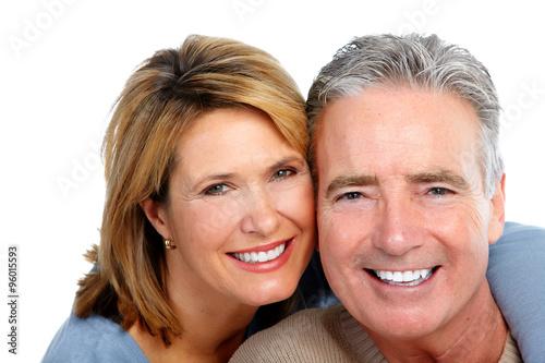 Happy laughing elderly couple. #96015593