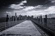 New York City Skyline from Pier on Liberty Island