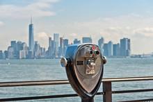 Scenic Binoculars And View Of New York City