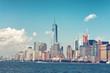 Lower Manhattan City Skyline from Across River