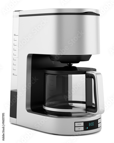 Fotografiet drip coffee machine isolated on white background