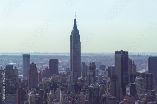 Foto op Plexiglas New York TAXI New York City - Manhattan skyline from above