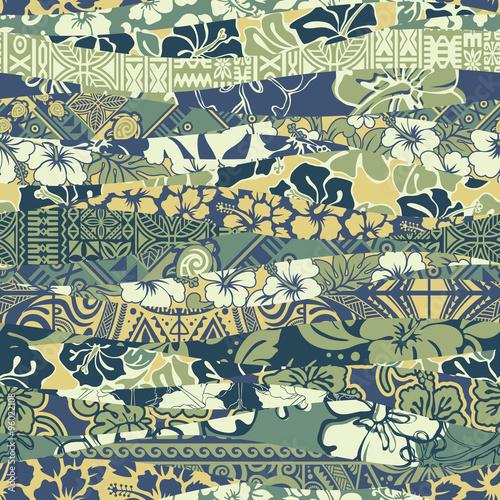 Materiał do szycia Hawajski patchwork tapeta wektor wzór