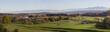 Bairisches Voralpenland - herbstliche Landschaft mit Dörfern un