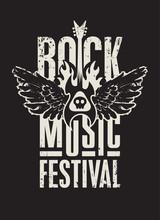 Poster For A Rock Music Festiv...
