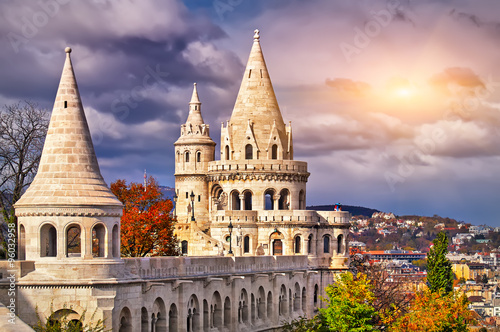 Fishermen's Bastion in Budapest Canvas Print