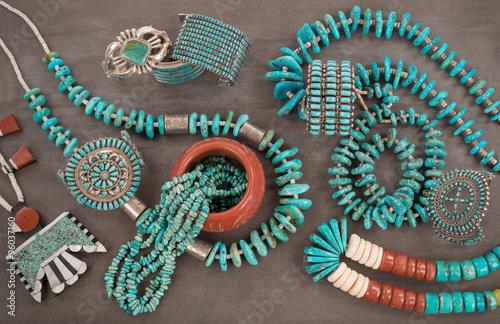 Fotografía  Collection of Vintage Native American Jewelry