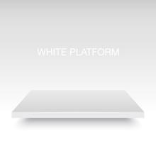White Vector Platform Stand.