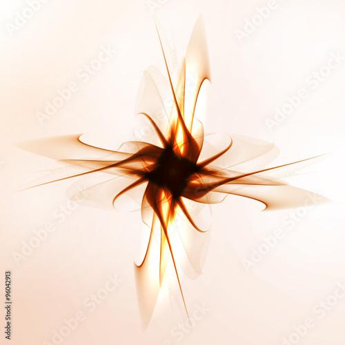 Keuken foto achterwand Fractal waves Abstract art background