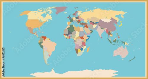 VINTAGE WORLD MAP BLIND