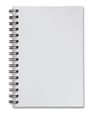 Blank White Spiral Notebook Is...