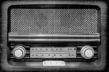 radio retro vintage style