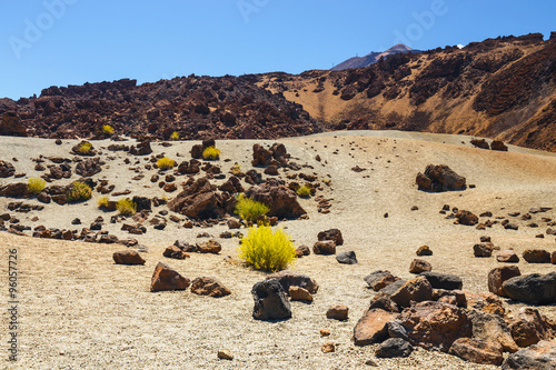 Fotografia  Volcanic bombs on Montana Blanca, Teide National Park, Tenerife, Canary Islands,