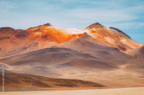 Poster de jardin Desert de sable Colored Mountains - Eduardo Avaroa Reserve - Bolivia