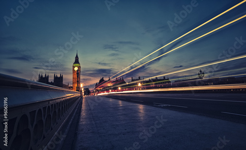 Poster London London skyline at twilight