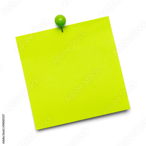 Fotografie, Obraz  Green Sticky Note