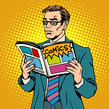 Man Reads Comic Book