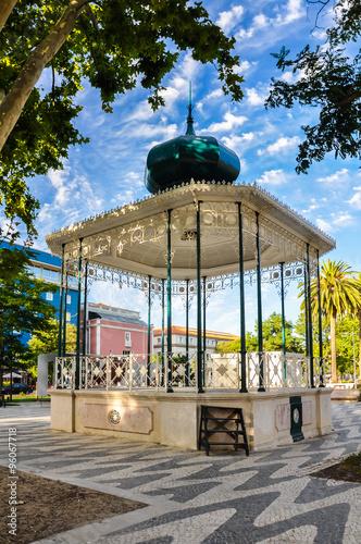 Fotomural Quiosco de música, Setúbal, Portugal, Europa