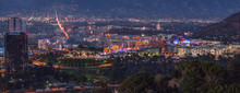 Panoramic View Of Studio City, San Fernando Valley, Los Angeles,